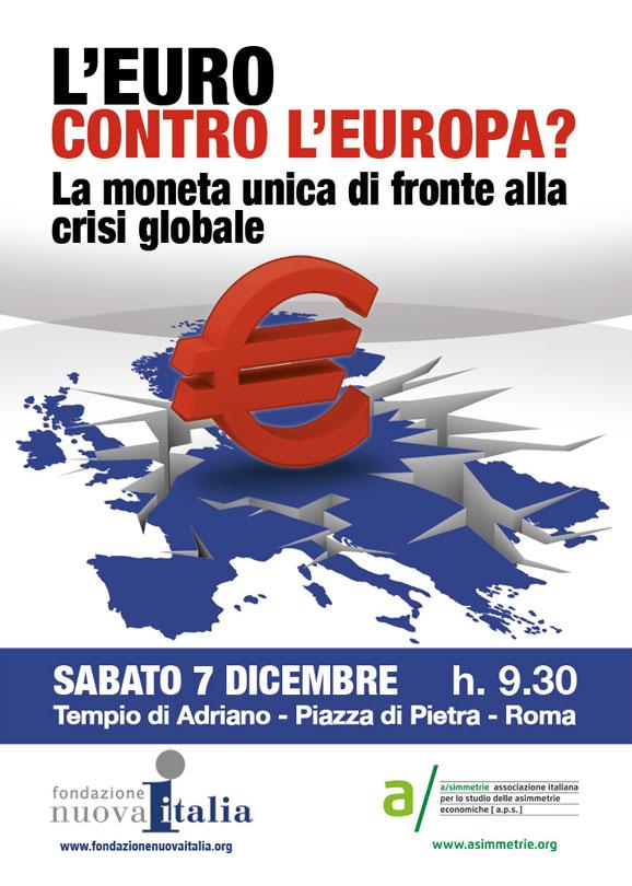 """Locandina de """"l'euro contro l'Europa?"""""""