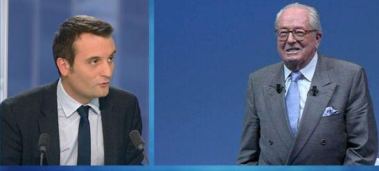 Florian Philippot, vice-président du FN et Jean-Marie Le Pen - © BFMTV